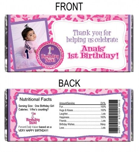 Pin By Marylin Hernandez On Hershey Bar Wrappers 1st Birthday Personalized Hershey Bars Girl First Birthday