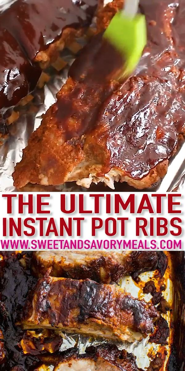 Best Instant Pot Ribs [VIDEO] - Sweet and Savory Meals images