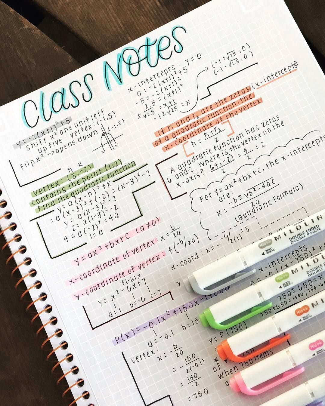 A m y on taking aesthetic math notes using a pen while the