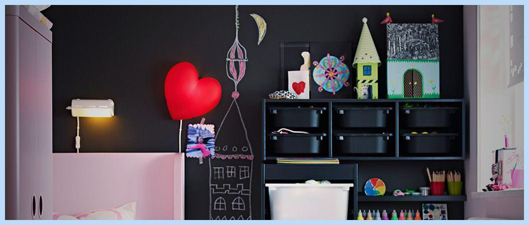 pared de pizarra en un dormitorio infantil aprovecha los espacios http - Pared Pizarra