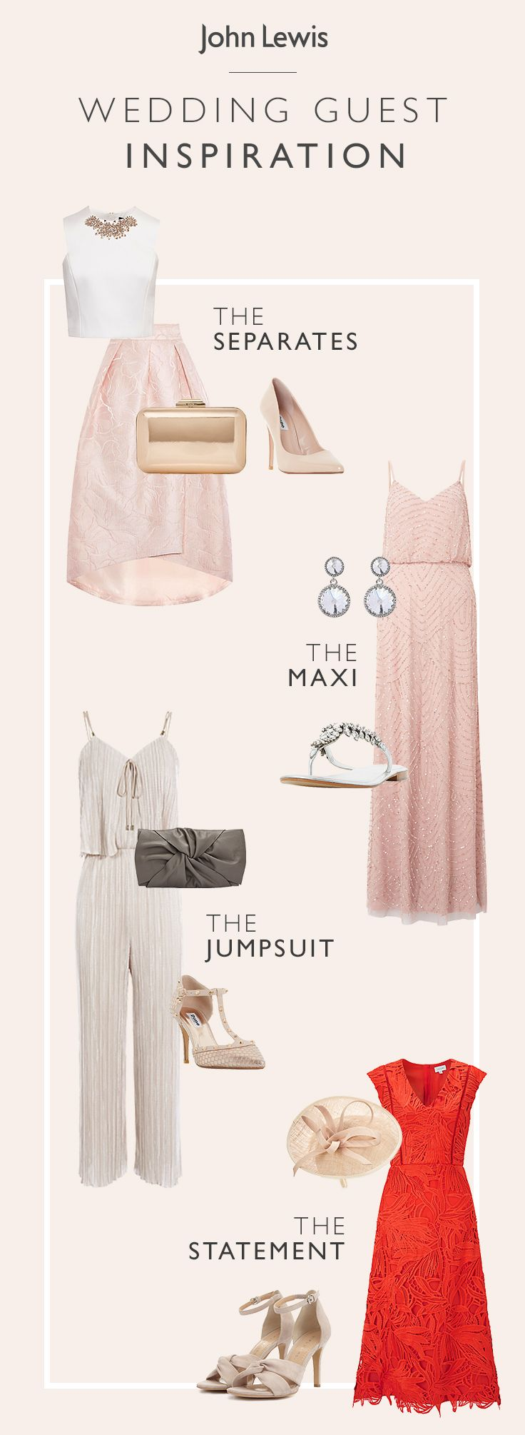 For that extra special occasion, find the ideal outfit to see you from ceremony to celebration. To suit all shapes, sizes and budgets, be inspired by our sophisticated wedding guest and occasionwear range. Boost your flawless occasion look with our stylish range of accessories and hats. #weddingguestdress