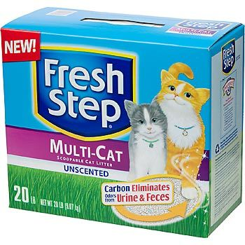 Fresh Step Premium Scoopable Unscented Clumping Cat Litter Multiple Cat Strength Best Cat Litter Cat Litter Clumping Cat Litter