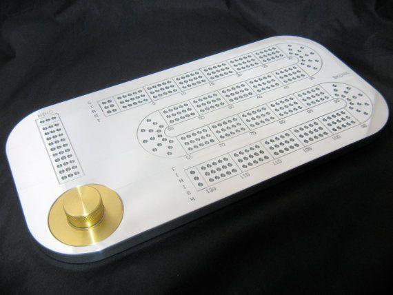 Ultra Modern Aluminum Cribbage Board Etsy Cribbage Board Cribbage Cnc Mill