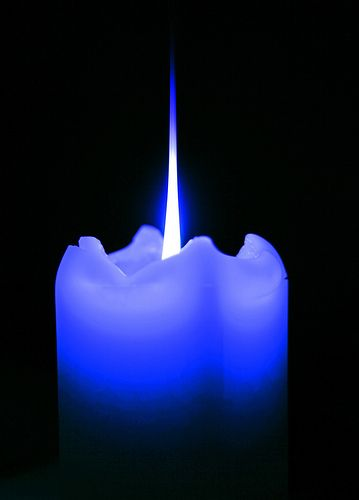 Blue Candle Blue Candles Colorful Candles Feeling Blue