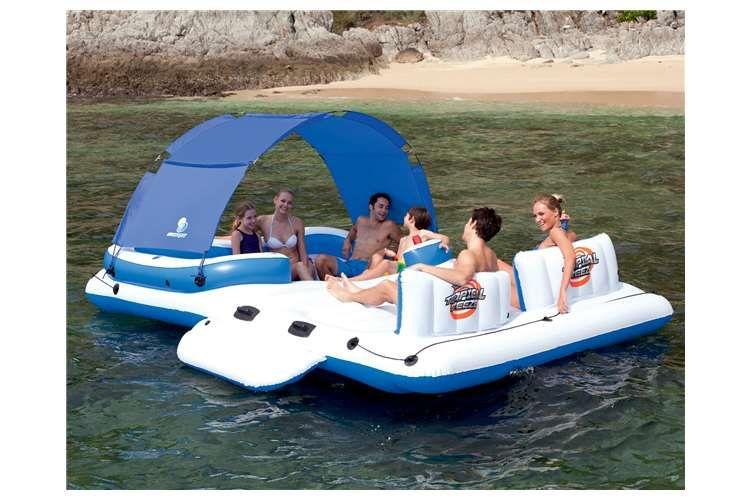Electric Air Pump Bestway CoolerZ Tropical Breeze 6 Person Floating Raft