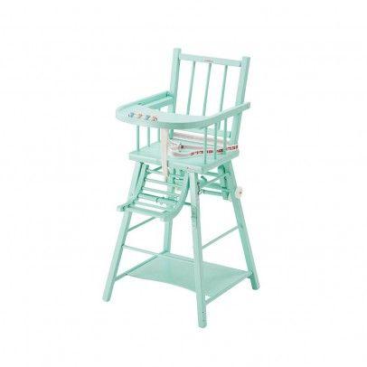 Chaise Haute Transformable Laque Vert Menthe Combelle