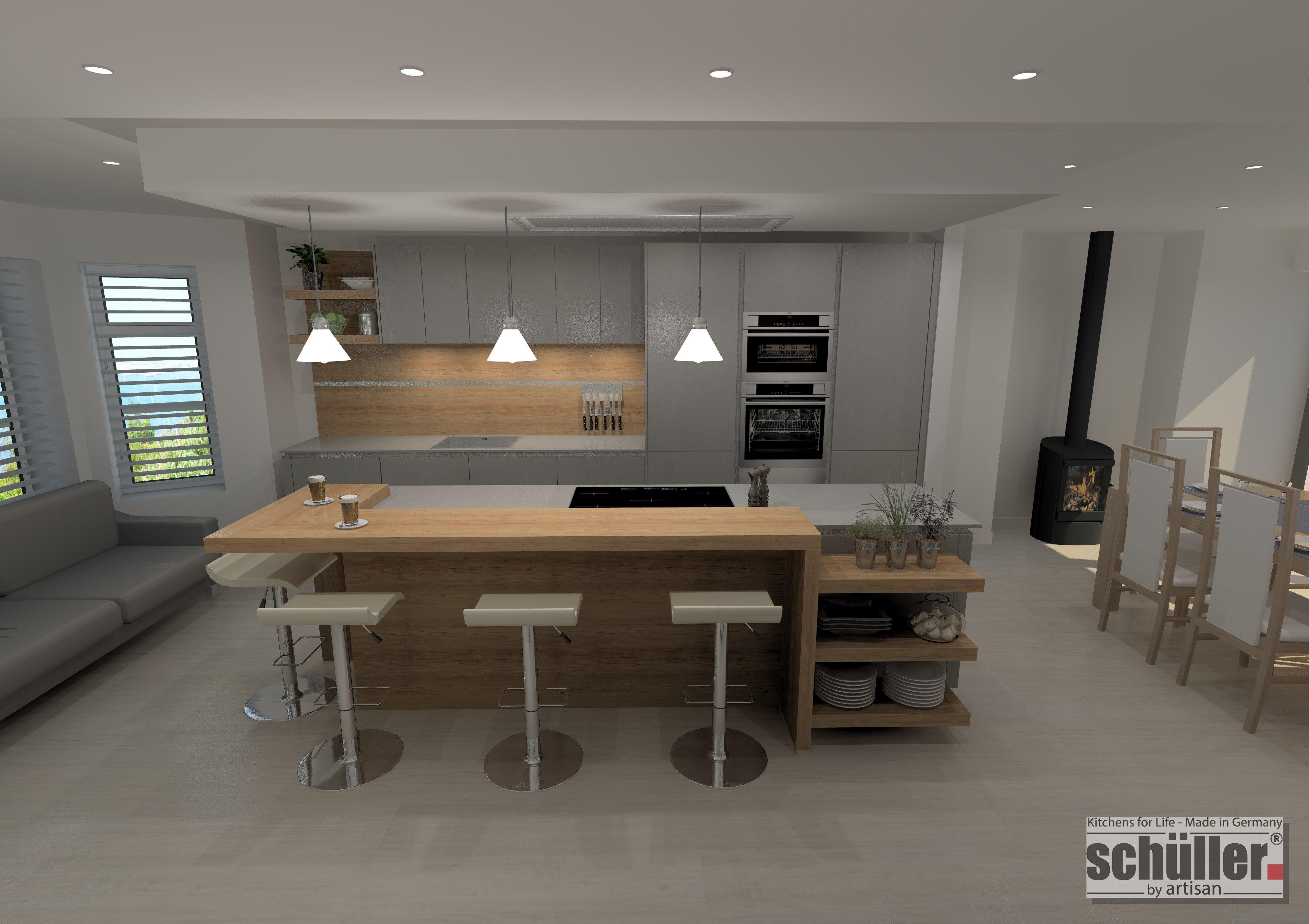 Modernkitchendesignschuller German Kitchen In Concrete Effect Interesting Modern German Kitchen Designs Design Decoration