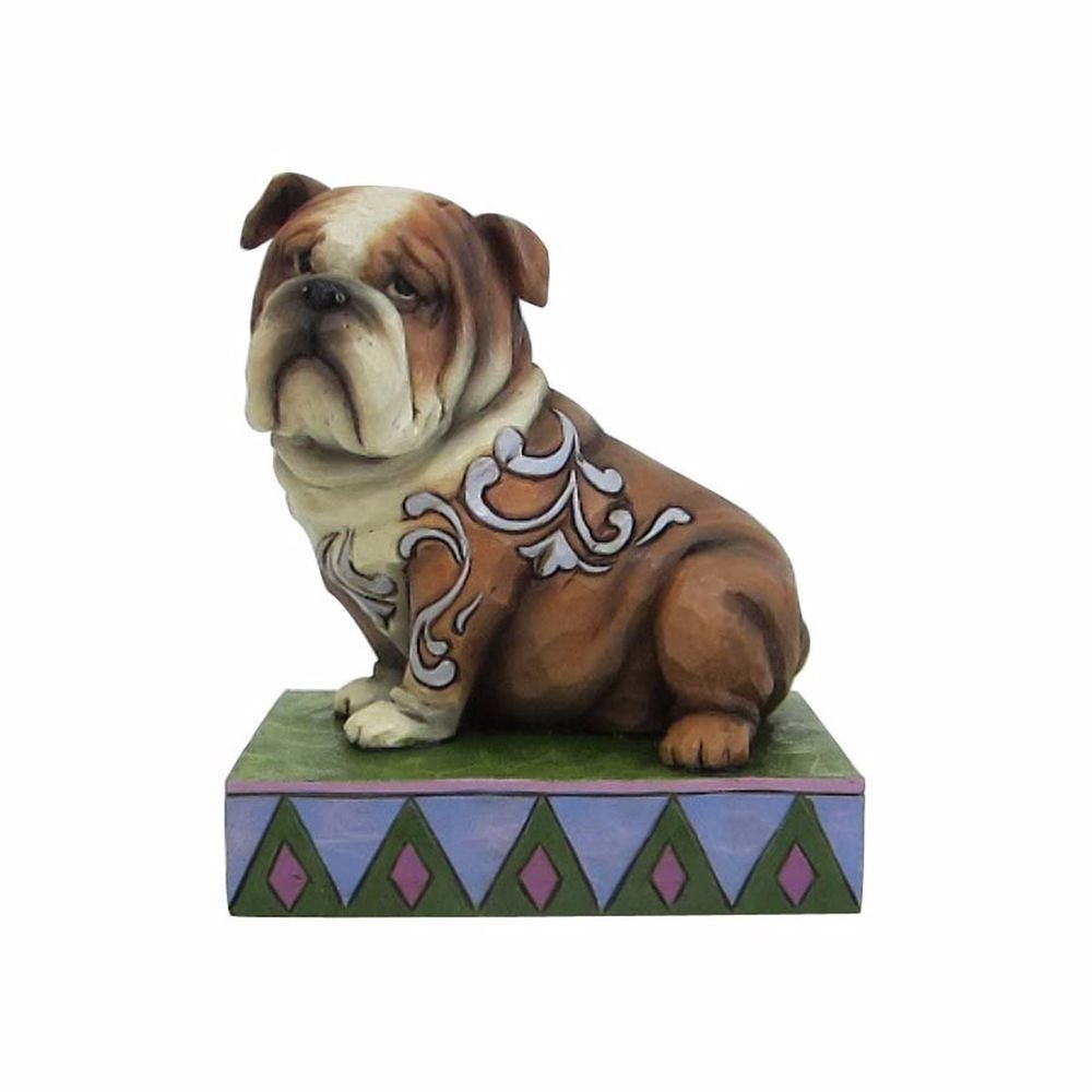 New Jim Shore Figurine English Bulldog Heartwood Creek Statue