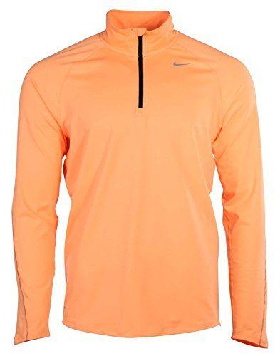 1ae85c6b2 NIKE Nike Mens Dri-Fit Element Half Zip Long Sleeve Running Shirt Orange. # nike #cloth #