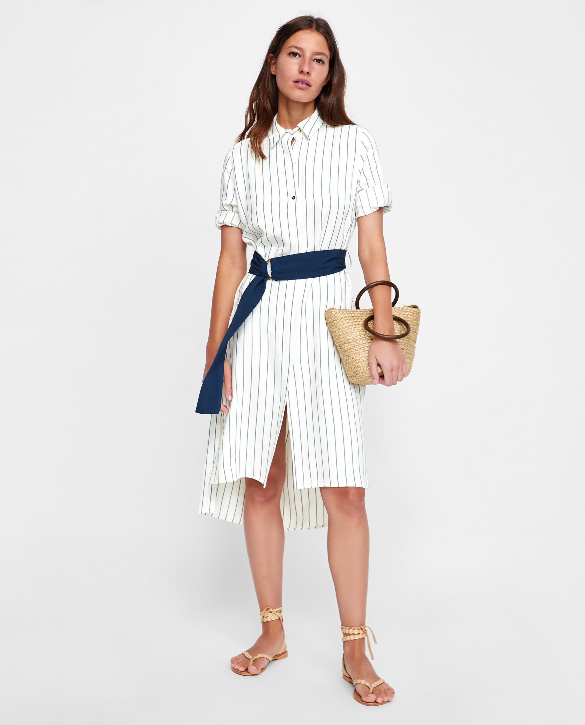 95a9e3c9cf ZARA - WOMAN - STRIPED SHIRT DRESS