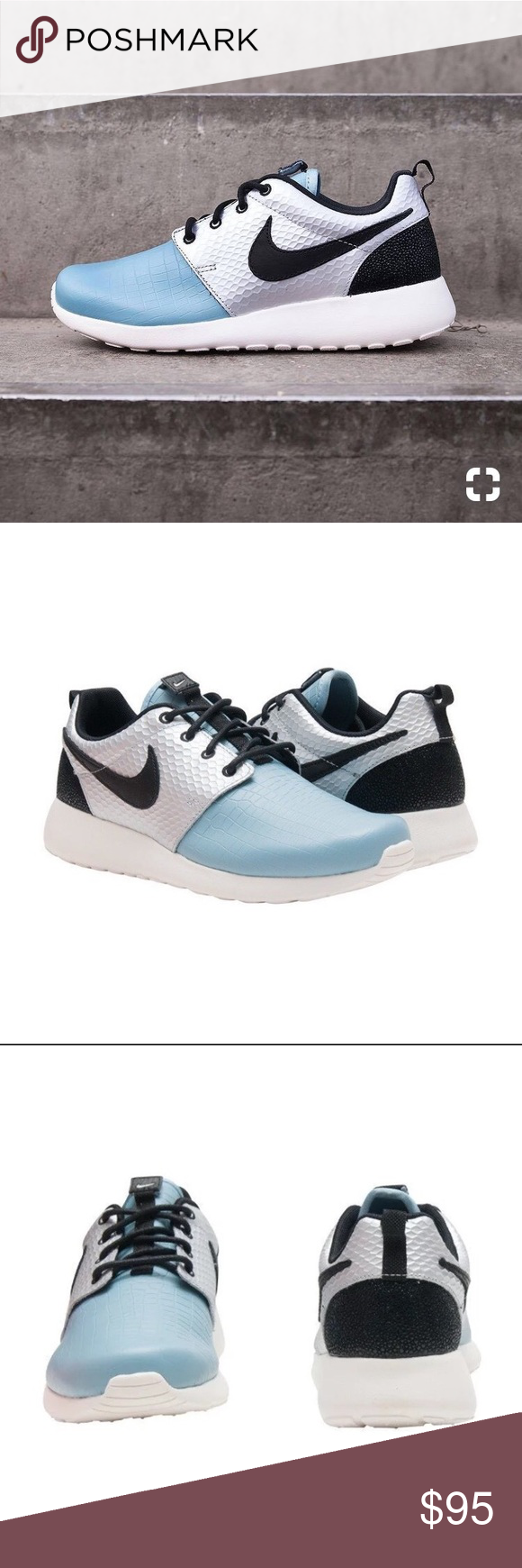 lowest price 44530 4f176 NWT Nike Roshe One LX New in box Nike Roshe One Lx Brand new, Never worn  Size  Women s 7 (24 cm) Color  Light blue  metallic silver  black Nike Shoes  ...