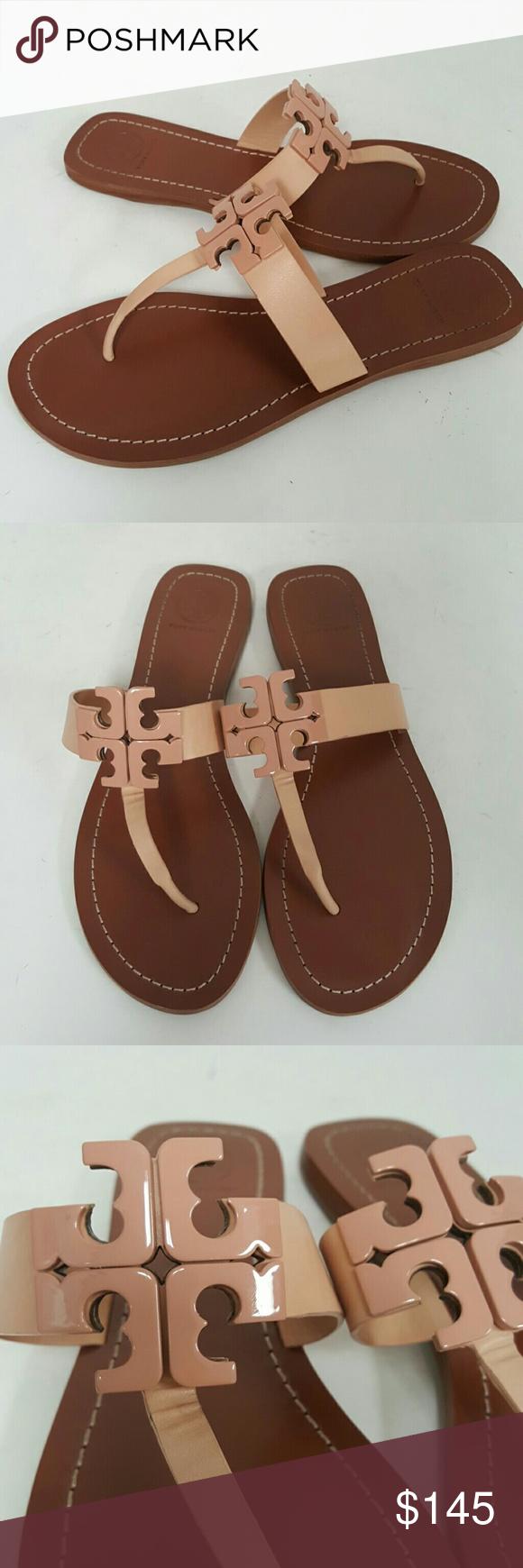 b4bda4b1f0e8 Tory burch light oak moore 2 thong sandal US 9 great mint condition Tory  Burch Shoes Sandals