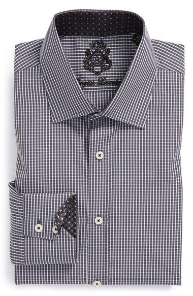 English Laundry Trim Fit Check Dress Shirt Shirts Shirt Dress Mens Tops