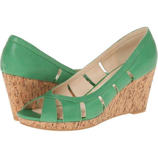 Nine West Jumbalia Green Reptile, Shoes, Women