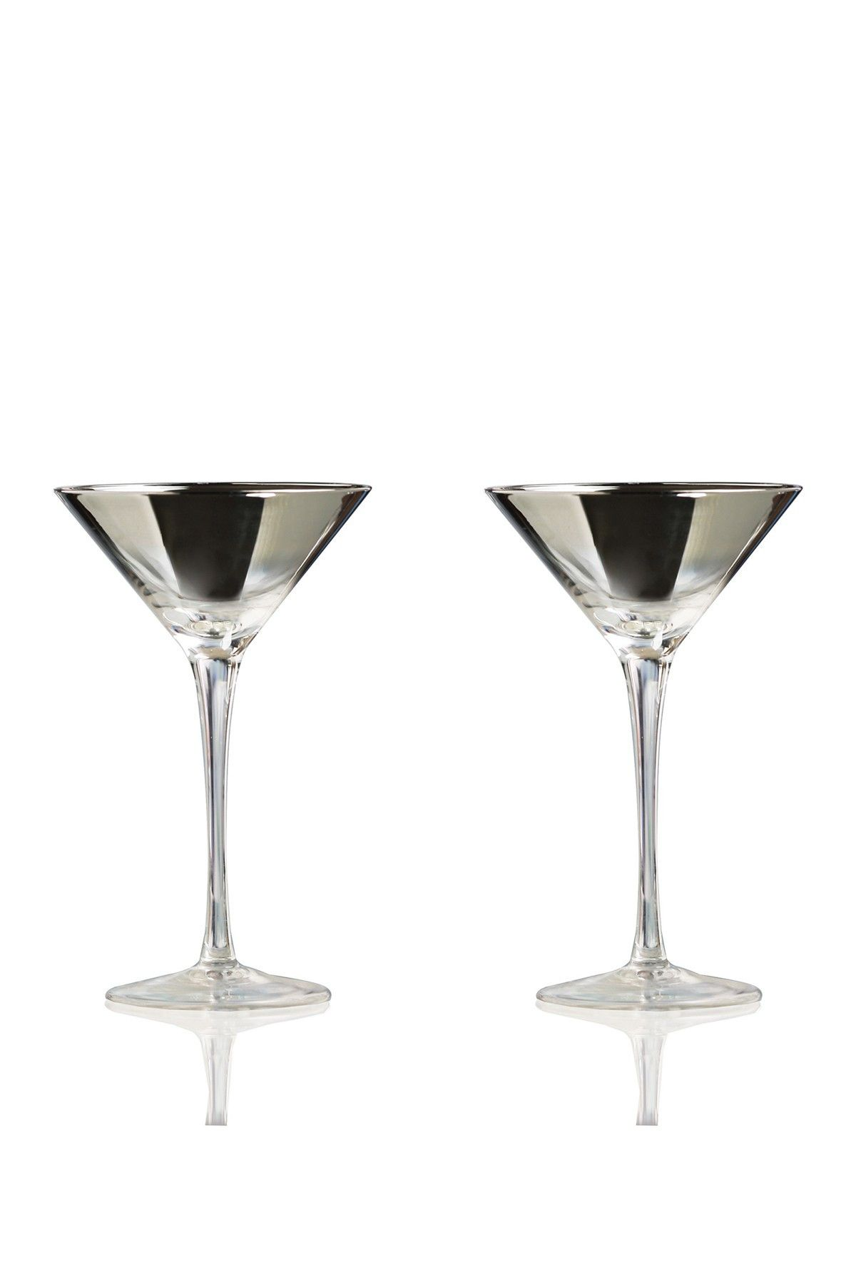 Circle Glass - Platinum Ombre Martini Glass - Set of 2 at Nordstrom Rack. Free…