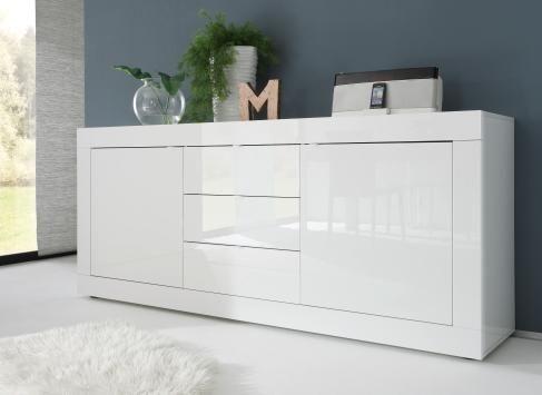 Sideboard Weiss Lack Woody 12-00913 Modern Einrichten in Weiß - kommode für küche