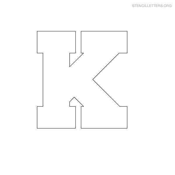 Stencil Letter Block K | Other DIY/crafts/art | Letter stencils