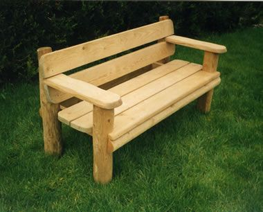 Garden Furniture Handmade garden wooden benches make your garden exquisite