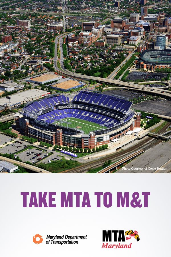 Going To M T Bank Stadium Avoid Traffic And Parking Hassles By Taking The Light Rail Bus Or Metro Subway See Schedule M T Bank Stadium Nfl Stadiums Maryland