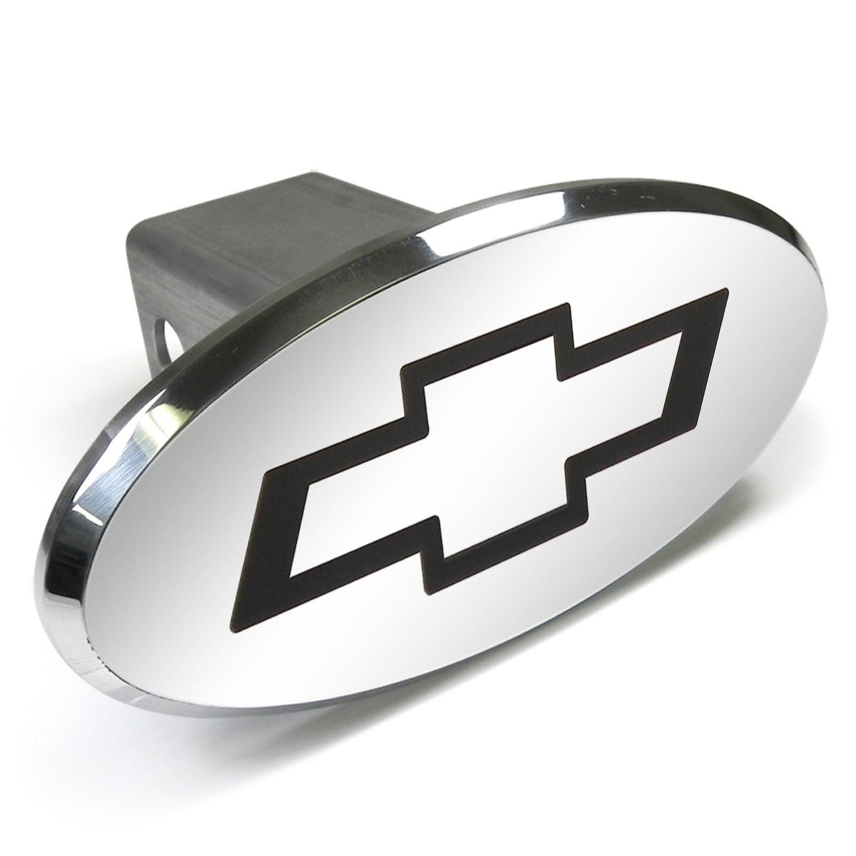 Chevrolet Bowtie Engraved Oval Chrome Aluminum Tow Hitch Cover