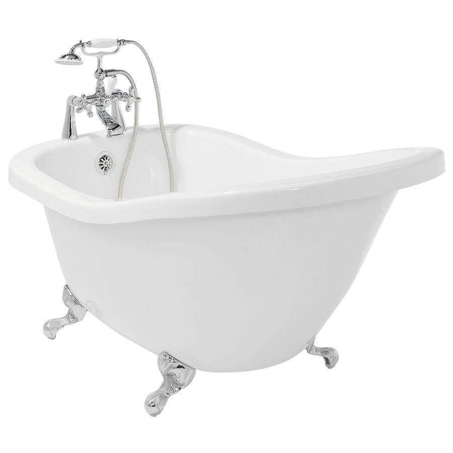 American Bath Factory Chelsea Acrylic Oval In Rectangle Clawfoot ...