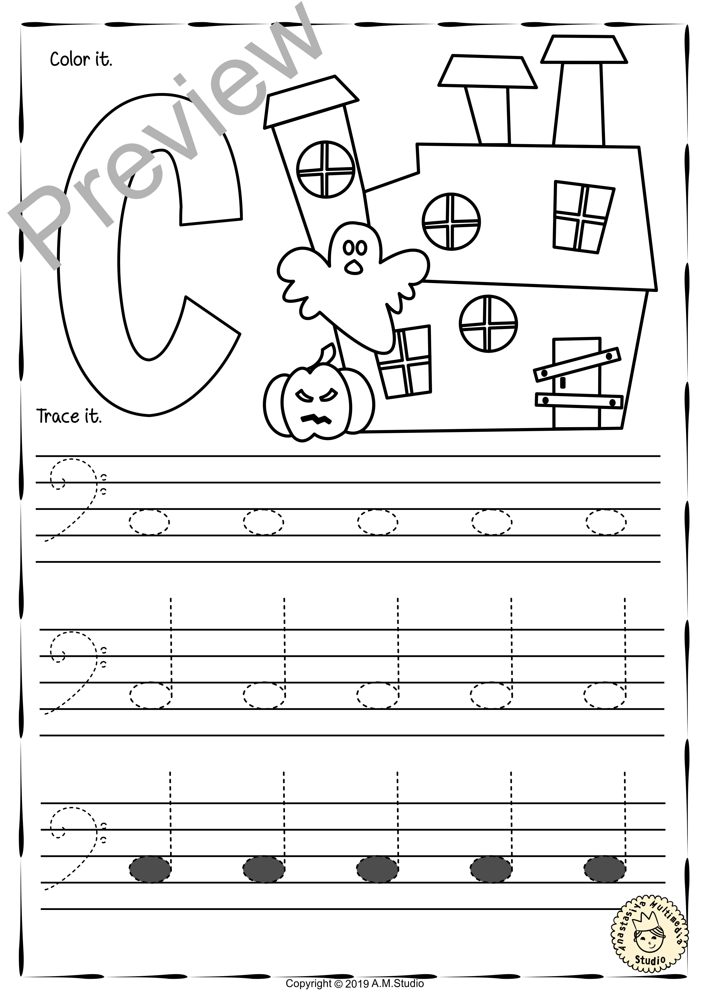 Bass Clef Tracing Music Notes Worksheets For Fall