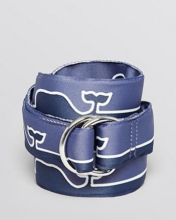 Vineyard Vines Submerged Whale D Ring Belt Bloomingdale s