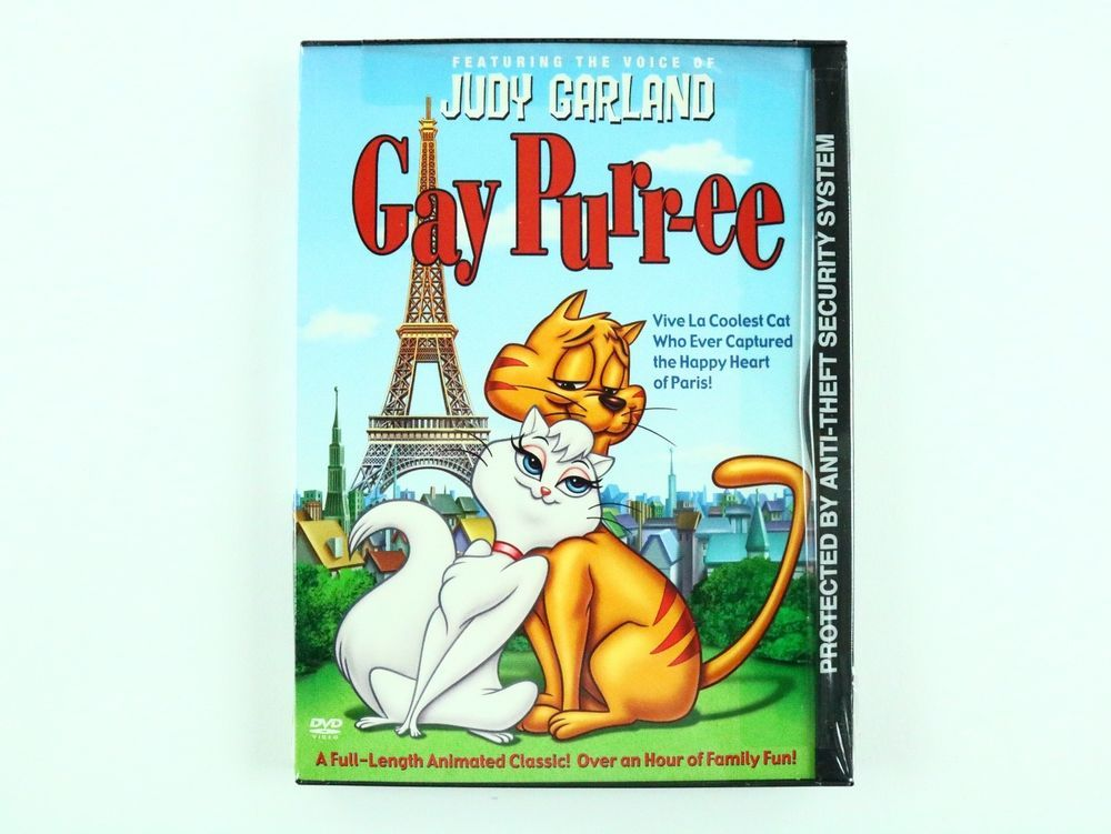 Gay Purr-ee Animated Movie Judy Garland DVD New Sealed RARE Free Shipping  #WB