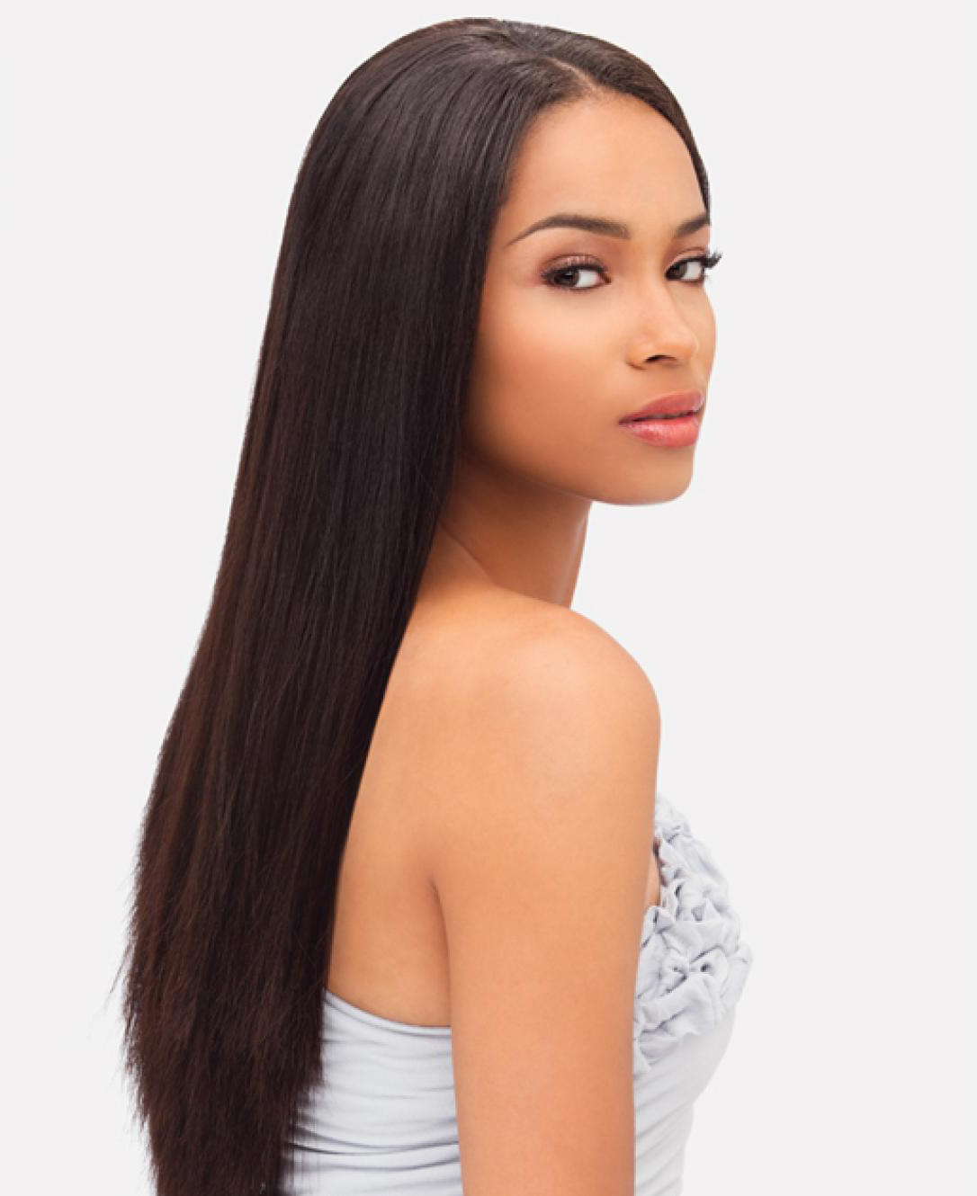 Undefined straight hair pinterest relaxed hair mixed race and