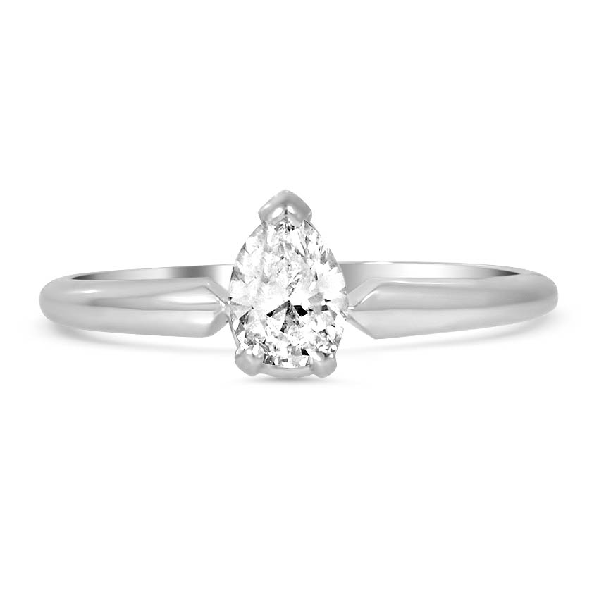 10k White Gold 14k White Gold The Misi Ring White Gold Vintage Diamond Rings Pear Shaped Diamond