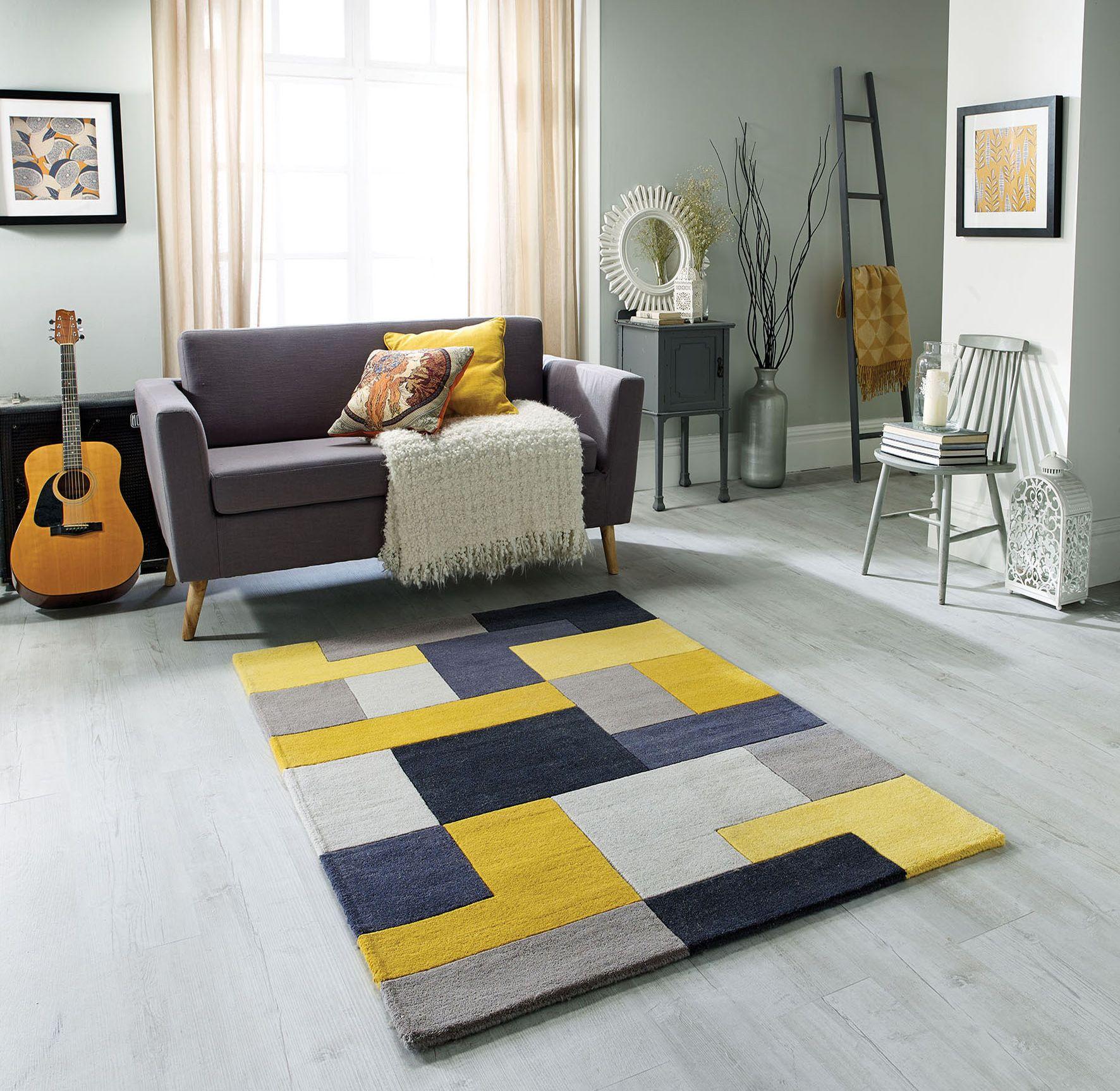 Lexus Yellow Rug In 2020 Yellow Rug Blue Carpet Bedroom Grey Rugs