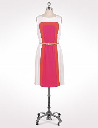 Plus Size Belted Vertical Colorblock Dress Dressbarn 56 Saw This