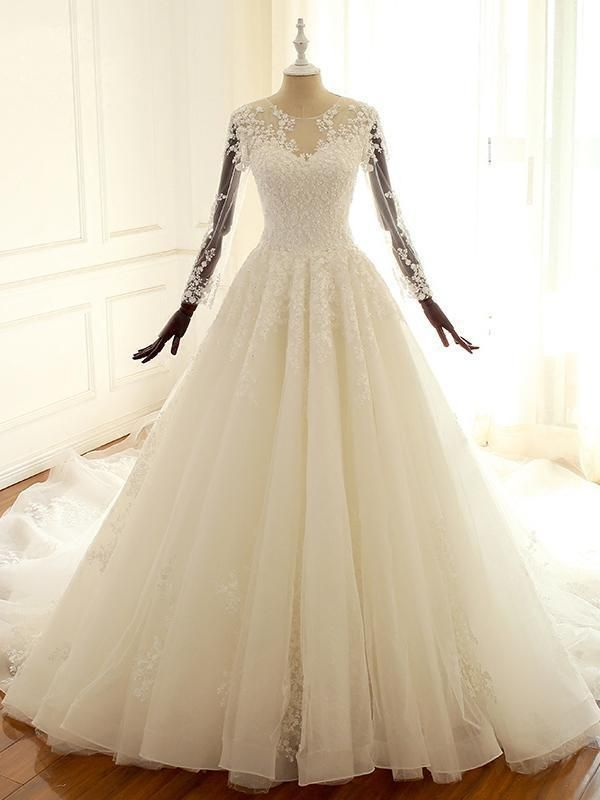 Long Sleeve Lace Custom Wedding Dresses Wd305 Sofitbridal Weddingdresses
