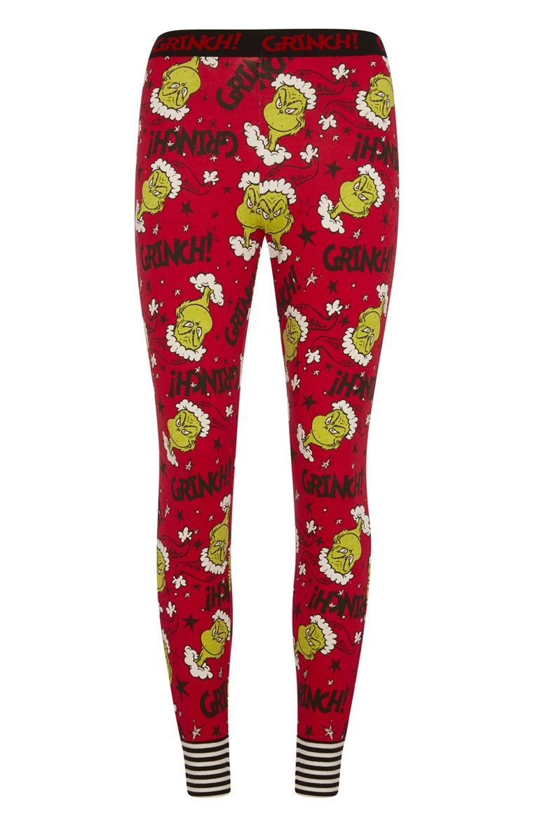 exclusive range clearance prices 2019 discount sale Primark - The Grinch Pyjama Leggings | Grinch pajamas ...