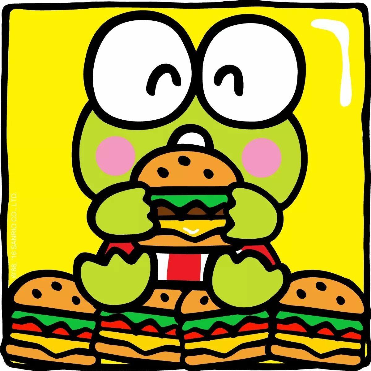 Keroppi Happy National Cheeseburger Day
