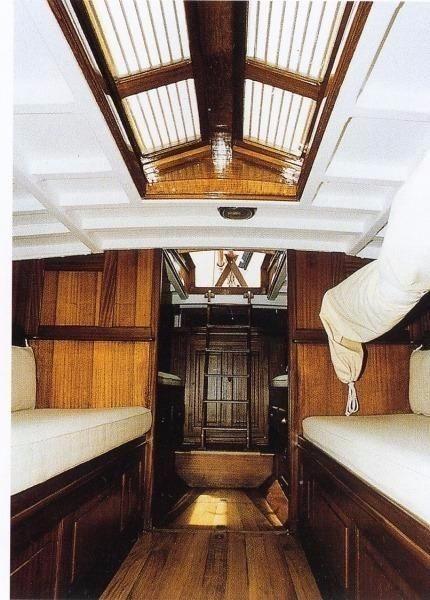 Classic Sailing Yacht Interior 1911 William Fife Tonino Sail Boat