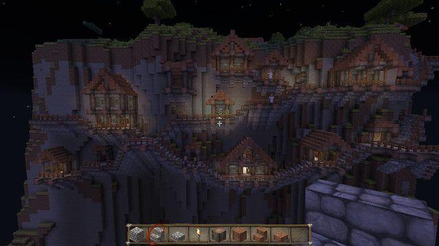 Minecraft Mountainside Village Minecraft Medieval Minecraft Mountain House Minecraft Blueprints
