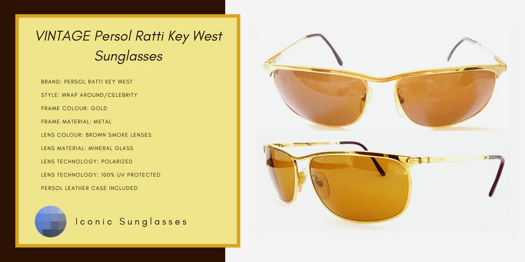 52b32f88ff VINTAGE Persol Ratti Key West  80s Sunglasses. Nicolas Cage Leaving Las  Vegas Movie.