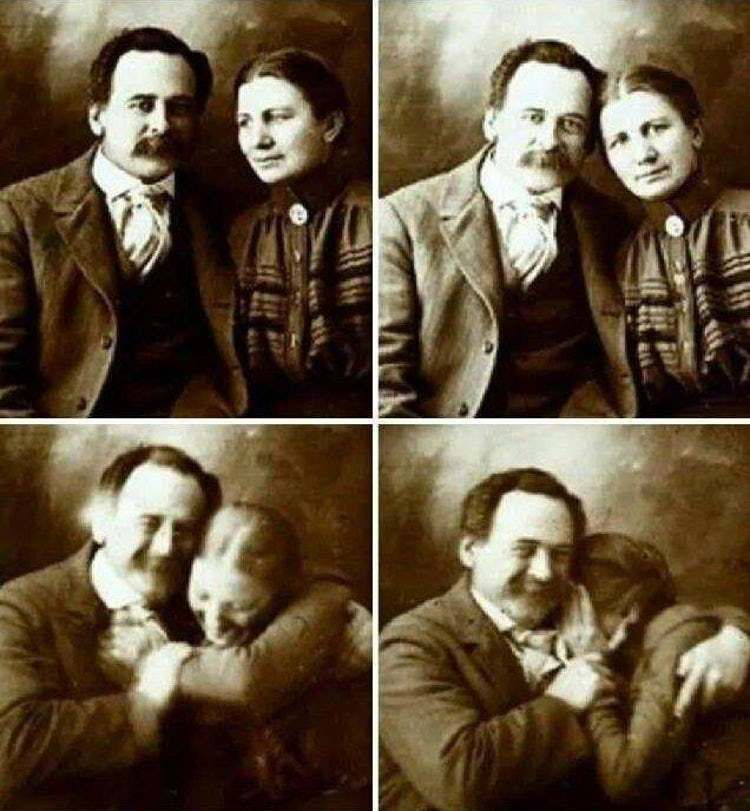 Latest Funny Couple  Victorian Couple Trying Not To... is listed (or ranked) 1 on the list Photos Of Adorable 19th-Century Couples 6