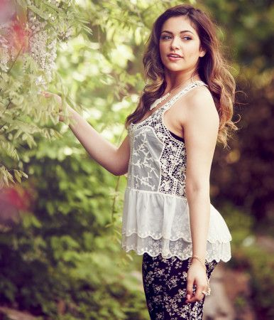 Sheer Lace Tiered Tank - Aeropostale