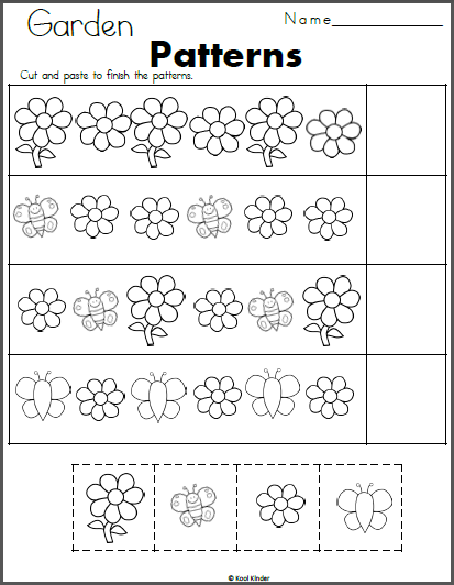 flowers and butterfly patterns cut and paste kindergarten spring butterfly pattern. Black Bedroom Furniture Sets. Home Design Ideas