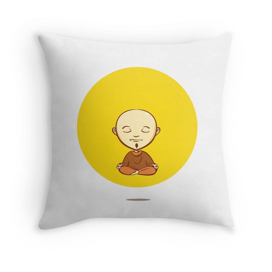 Cute cartoon buddhist monk