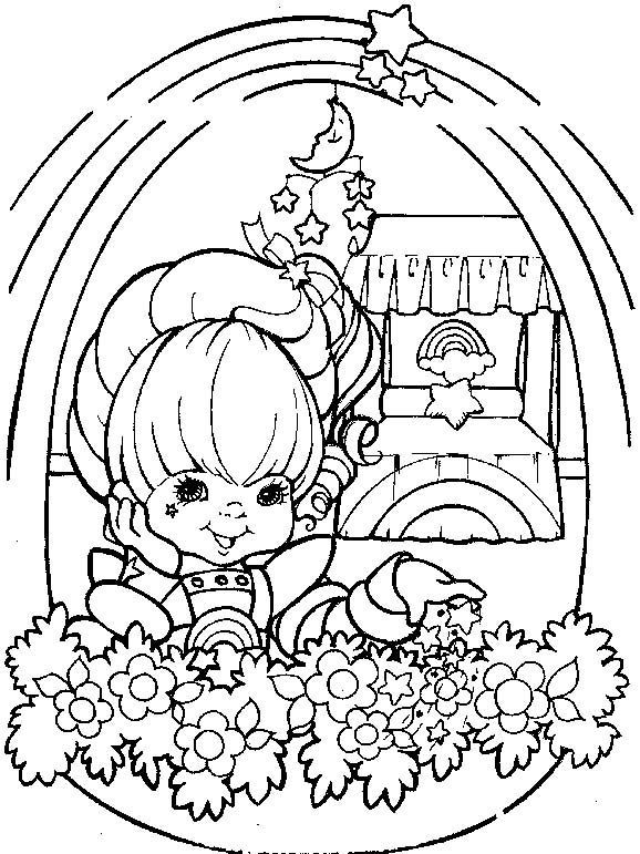 Rainbow Brite Coloring Sheets Found On Funkidscoloring Com