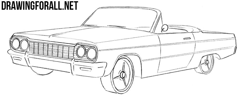 1964 Chevrolet Impala Car Coloring at YesColoring Color
