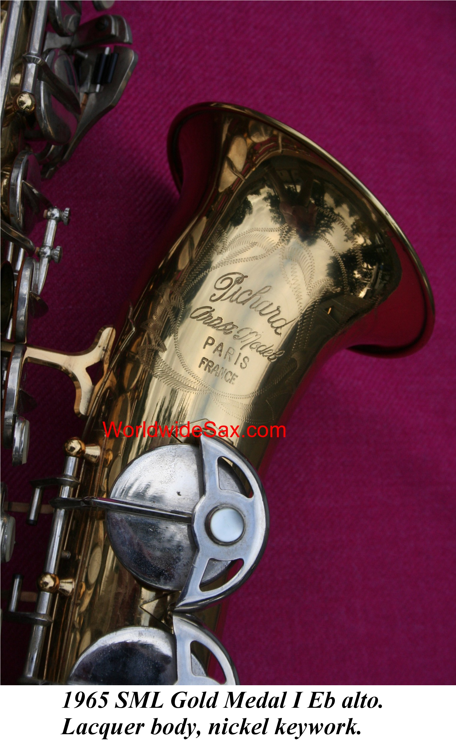 1965 SML (Strasser-Marigaux-Lemaire) Gold Medal I Eb alto w