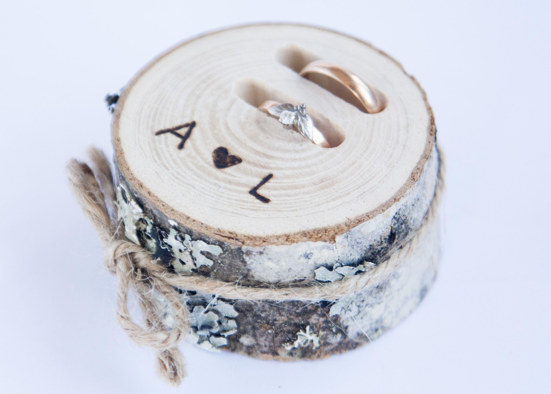ring bearer pillows woodland wedding decor wedding decoration Rustic wedding  ring  pillow rustic ring holder log ring box