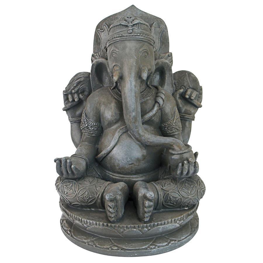 Greystone Lord Ganesha Statue Elephant God Hindu Elephant Elephant Sculpture