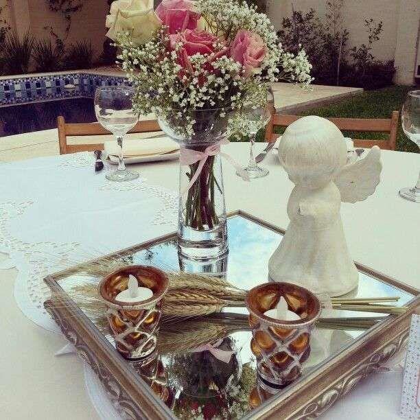 Centros de mesa para primera comuni n ideas para decorar - Ideas para decorar mesas ...