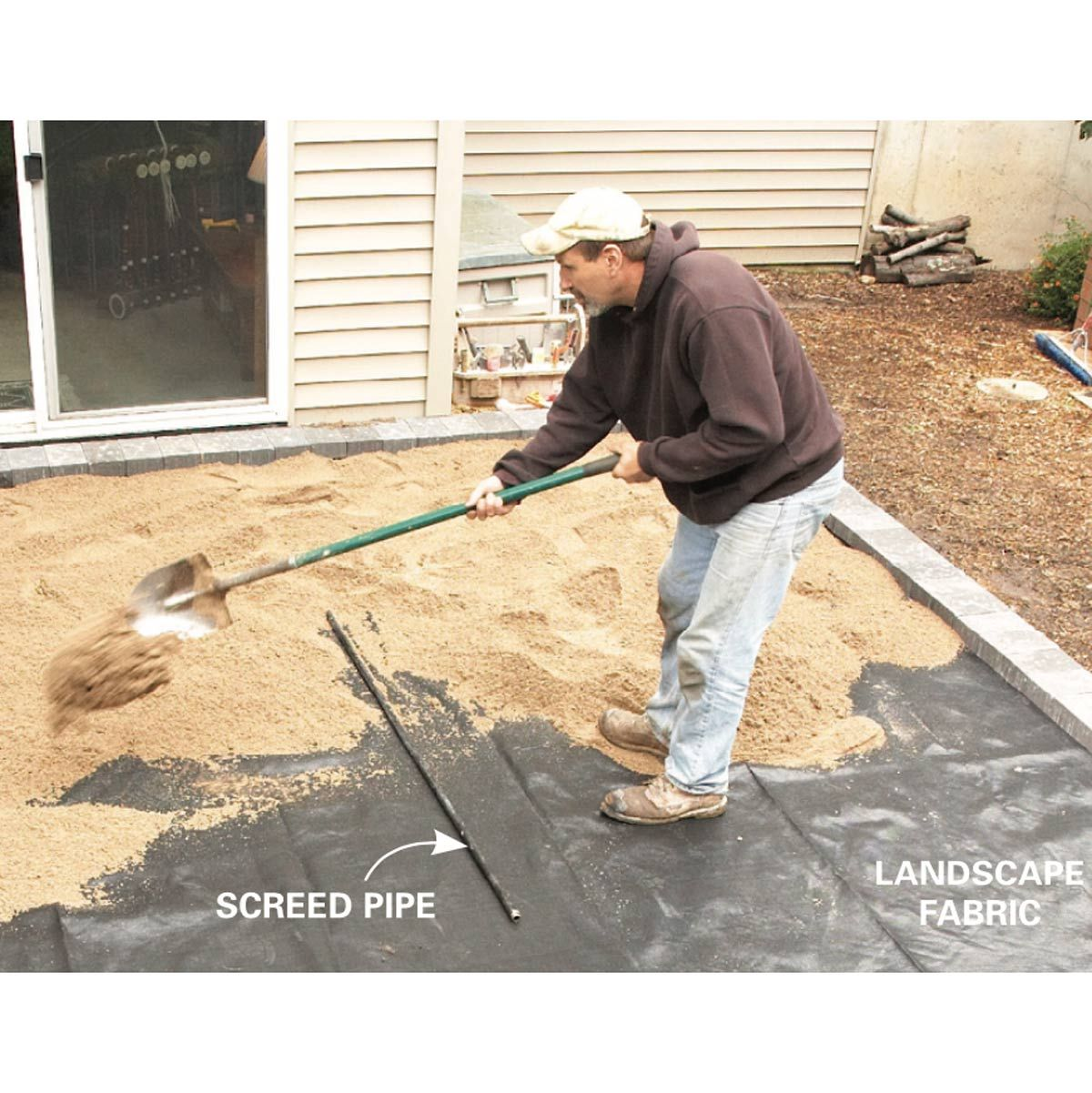 How To Cover A Concrete Patio With Pavers With Images Concrete Patio Concrete Patio Makeover Paver Patio