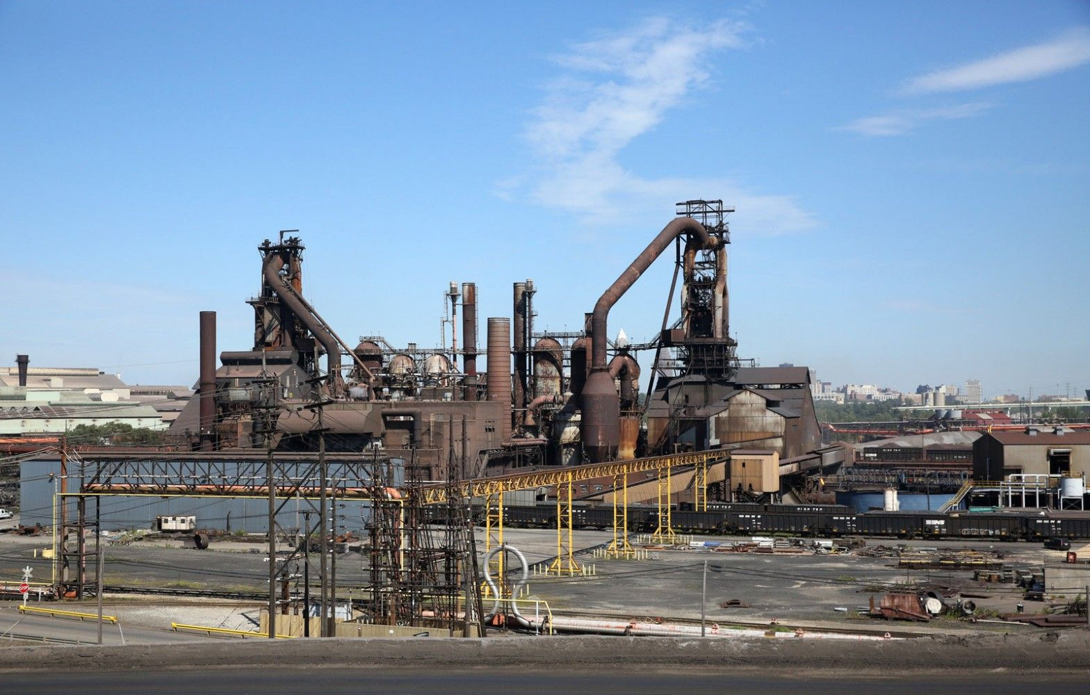 Blast furnaces of ArcelorMittal Cleveland mix iron ore